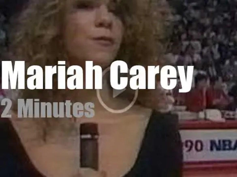 Mariah Carey sings before Game 1 (1990)