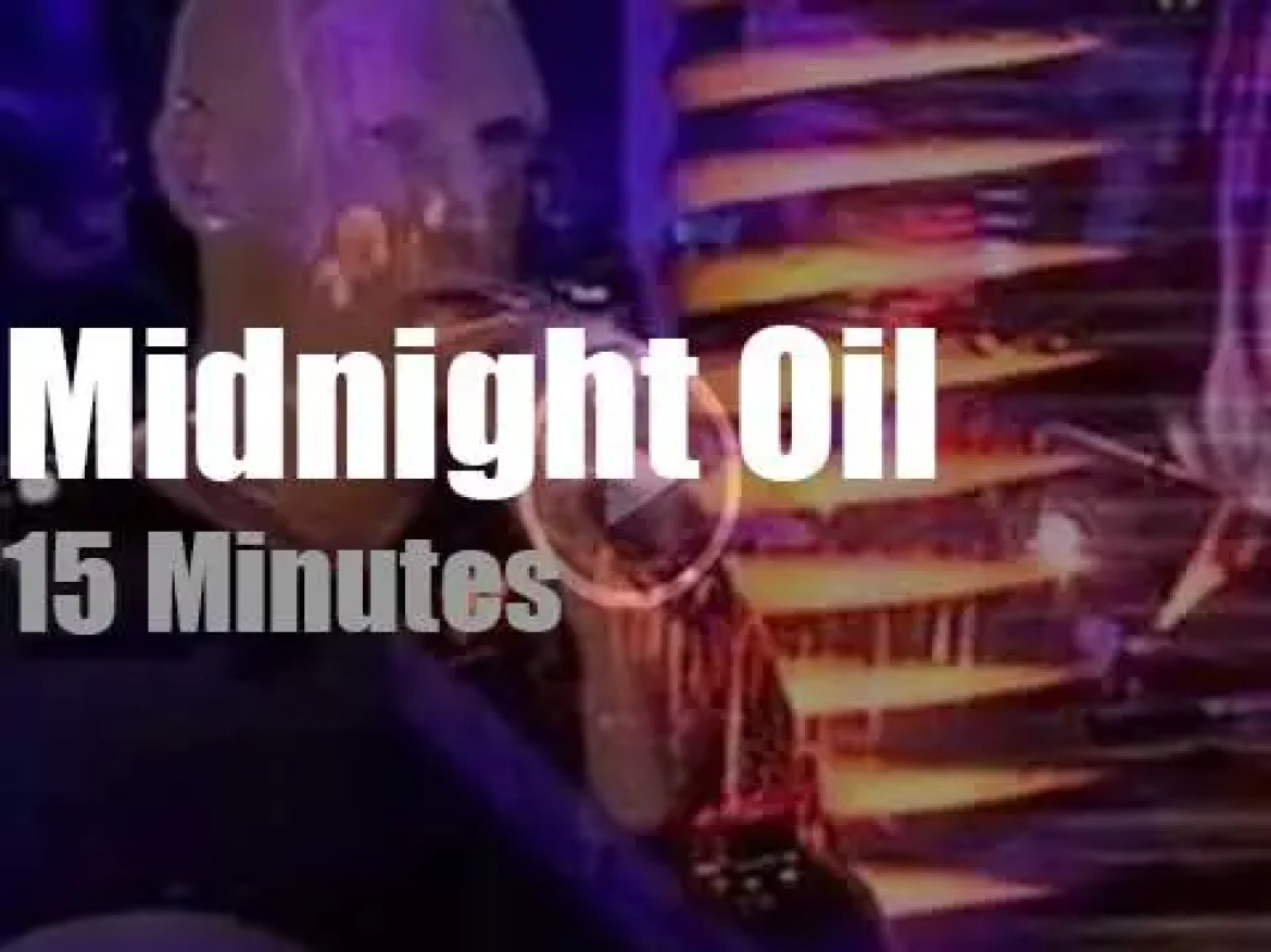 On English TV today, Midnight Oil at 'Later… with Jools Holland' (1993)