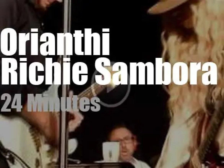 Richie Sambora (and Orianthi) soundcheck in London (2014)