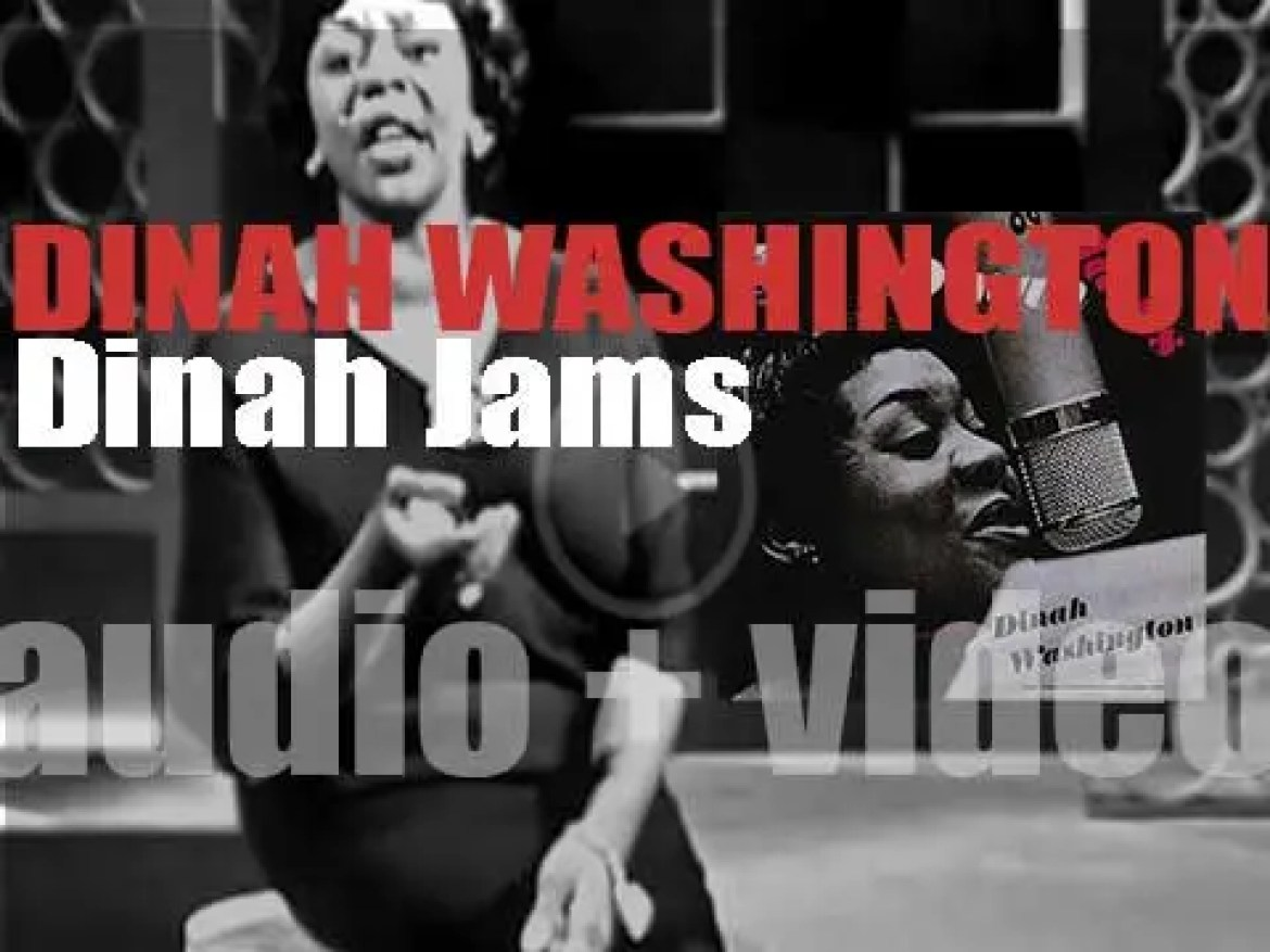 Dinah Washington records in Hollywood 'Dinah Jams,' a live album with Clifford Brown, Clark Terry, Maynard Ferguson and Max Roach among others (1954)