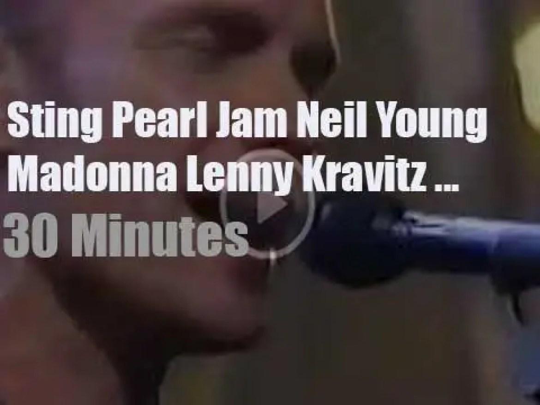 On TV today, Sting, Madonna, Lenny et al athe 'MTV Video Music Awards' (1993)