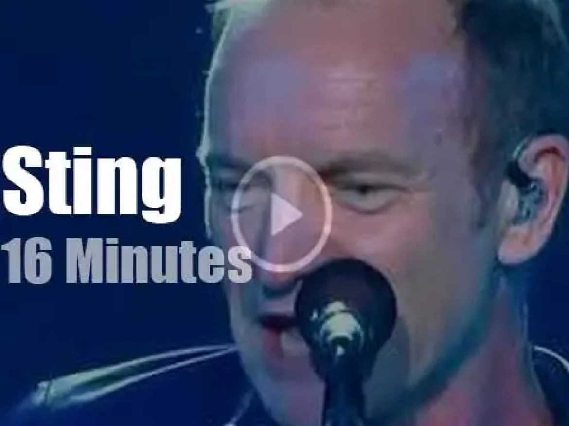 Sting closes a 'New Wave' competition in Russia (2016)