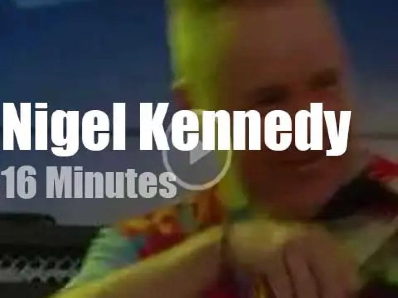 On Bulgarian TV, Nigel Kennedy covers Jimi (2016)