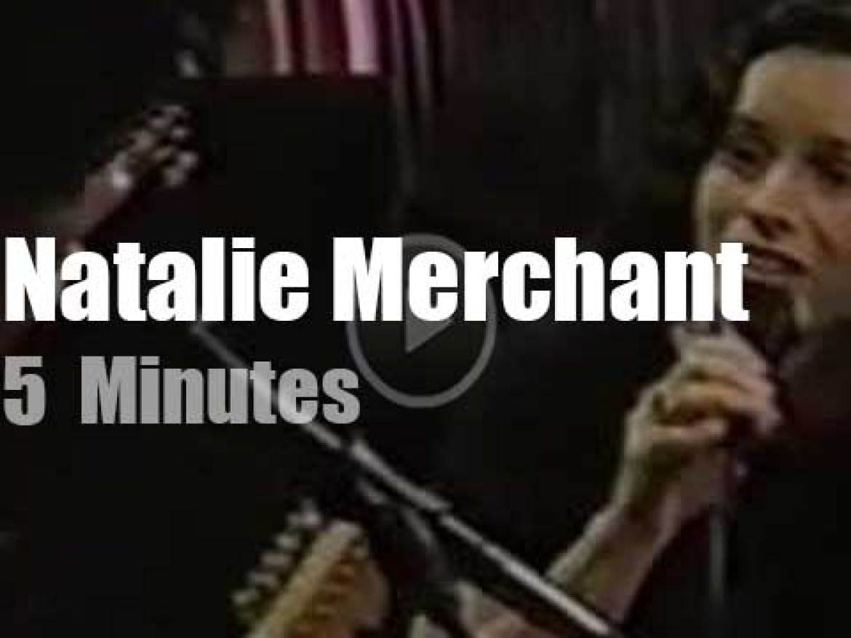 On TV today, Natalie Merchant with Jay Leno (1998)