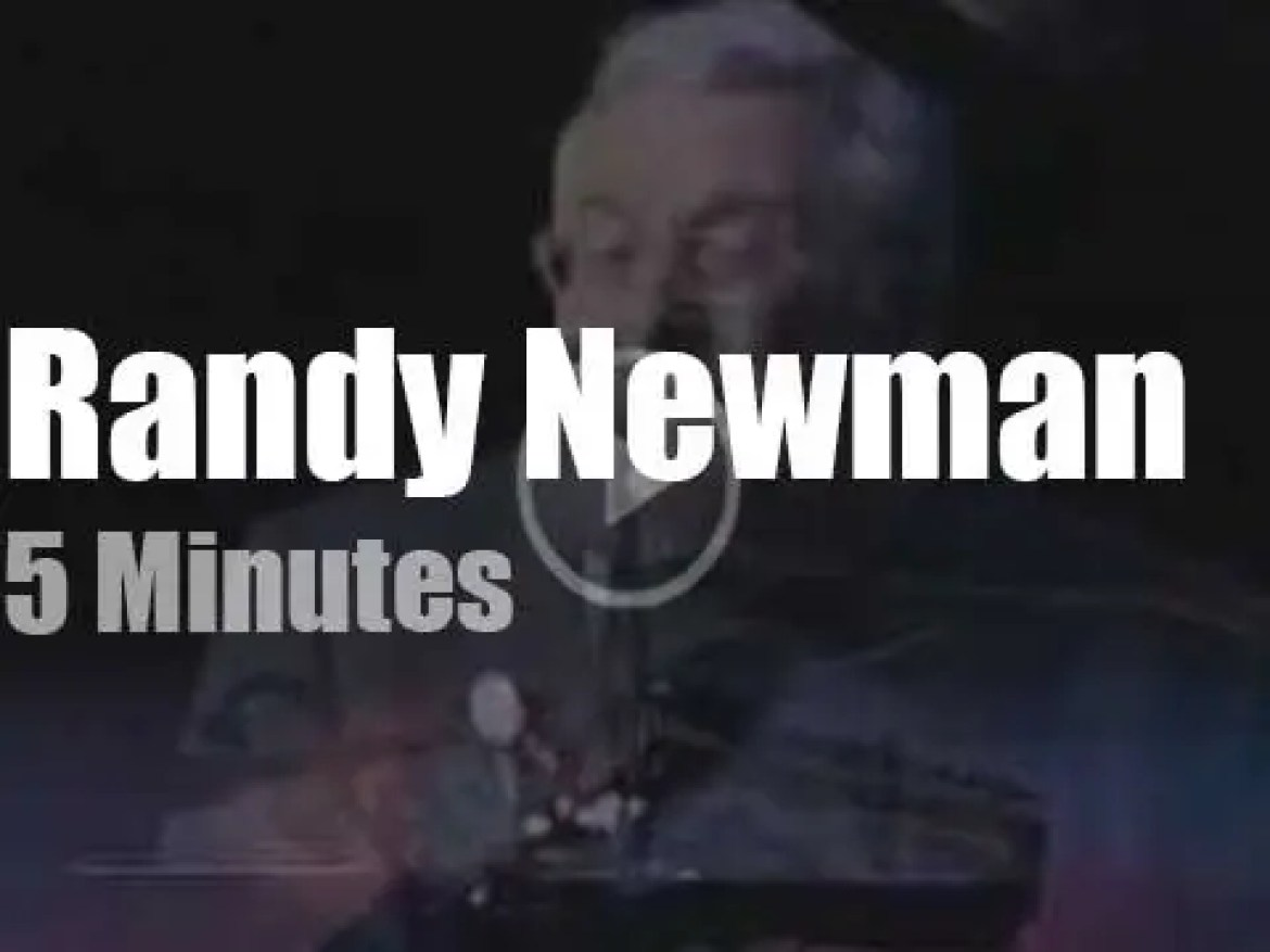 On public television today, Randy Newman on 'Canvas' (2011)