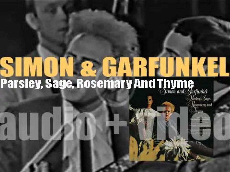 Simon & Garfunkel release 'Parsley, Sage, Rosemary And Thyme,' their third album featuring 'Scarborough Fair' and 'Feelin' Groovy' (1966)
