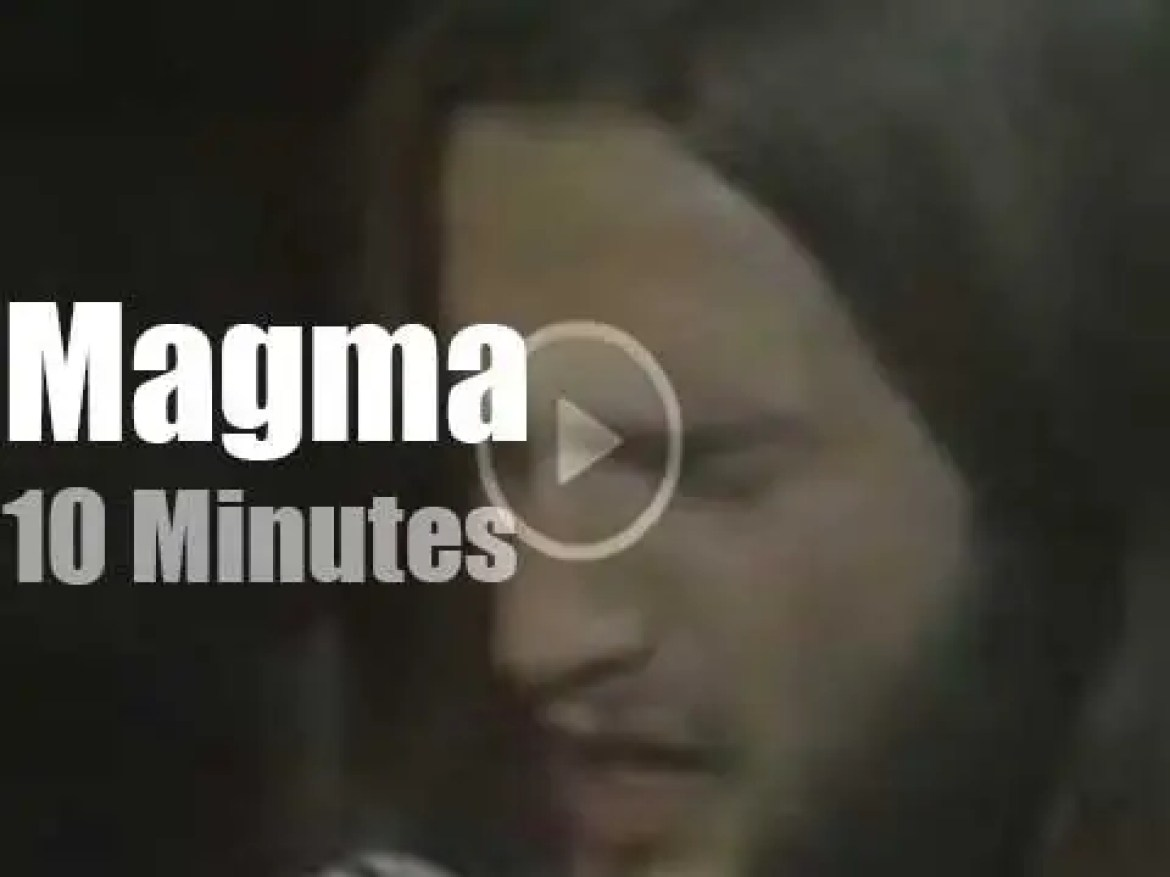 On French TV today, Magma at 'Pop2' (1970)