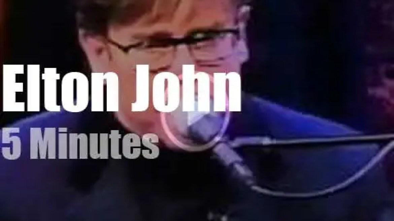 On TV today, Elton John with Conan O'Brien (1996)