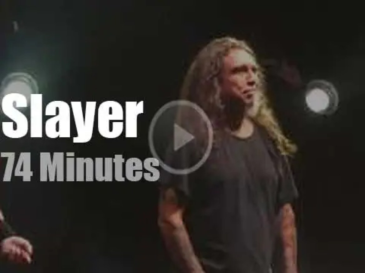 Slayer have one last one at the Garden (2019)