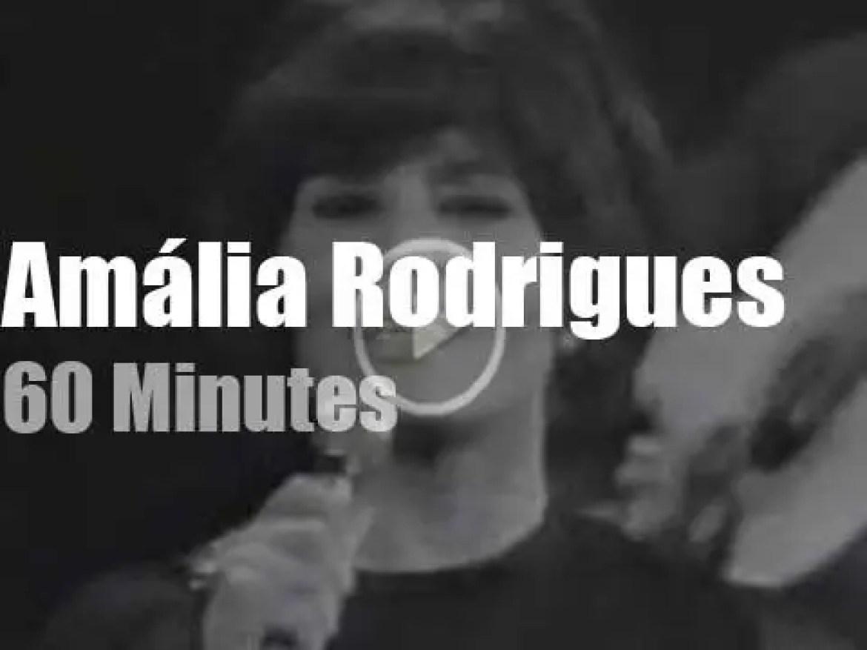 Italian TV tapes Amalia Rodrigues in Milan (1970)