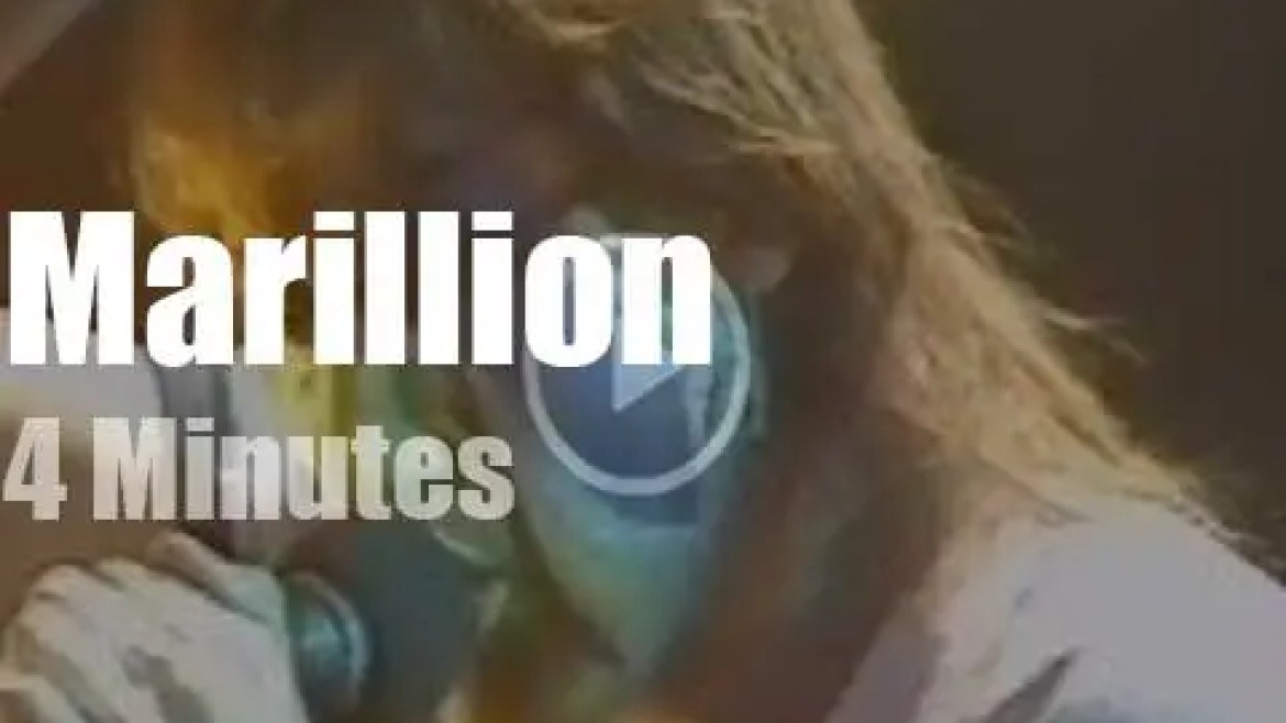 On British TV today, Marillion's first apprearance (1983)