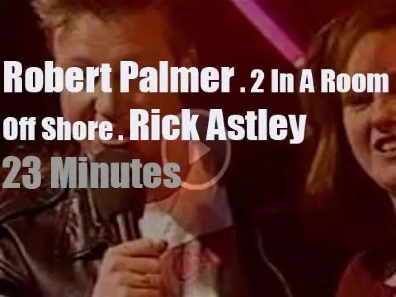 On British TV today, Robert Palmer, Rick Astley et al at 'TOTP' (1991)