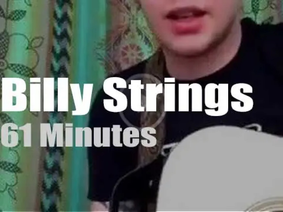On Web TV today, Billy Strings picks at 'Facebook Live' (2017)