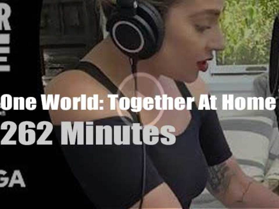 On Web TV today, 'One World: Together At Home' with Lady Gaga and more than fifty artists (2020)