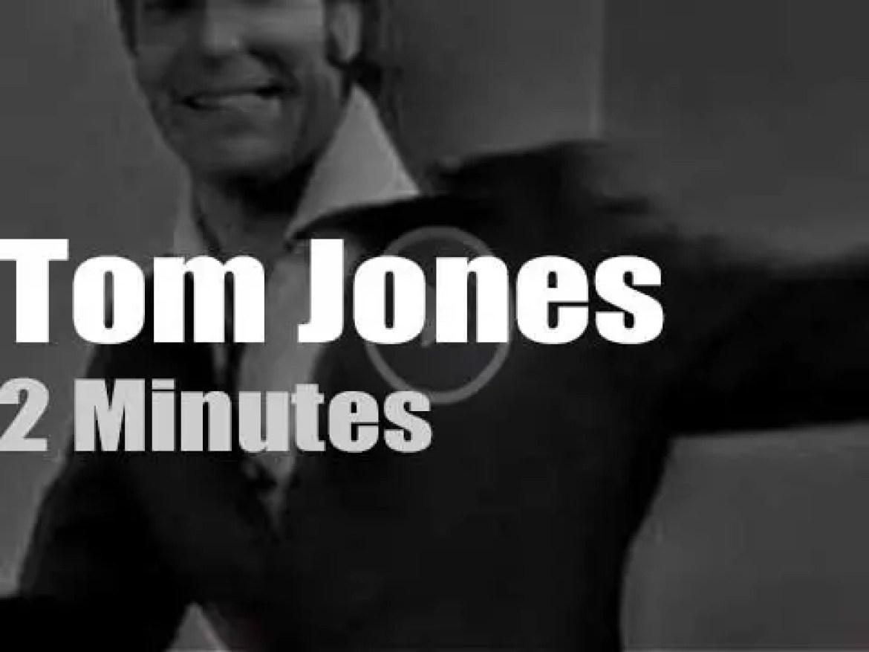 On TV today, Tom Jones with Ed Sullivan (1965)