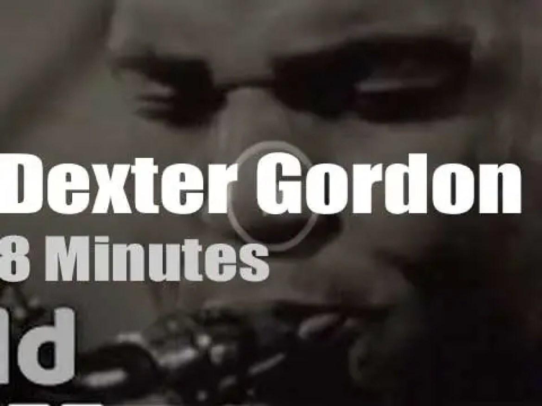 On Dutch TV today, Dexter Gordon and his trio (1964)