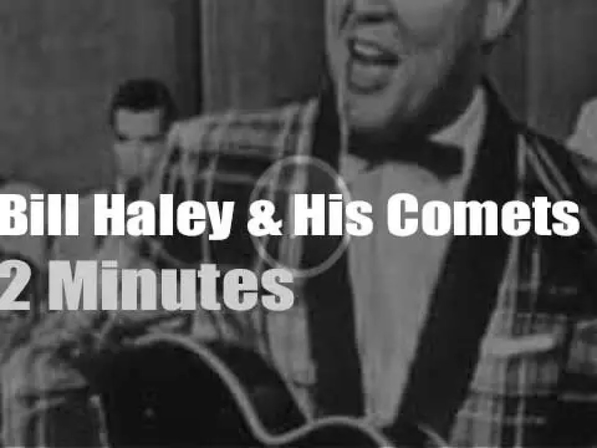 On TV today, Bill Haley & His Comets with Ed Sullivan (1955)