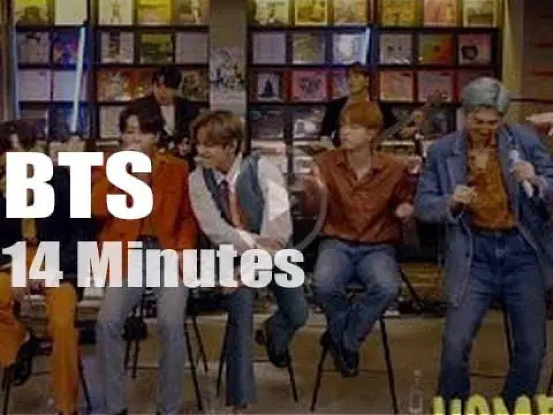 On web TV today, BTS at 'NPR Tiny Desk' (2020)