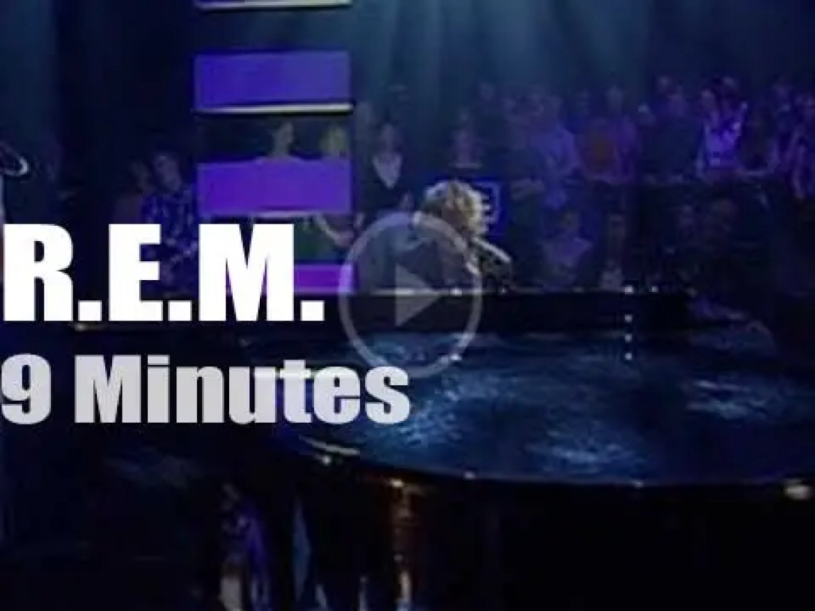 On British TV today, R.E.M. with Jools Holland (2003)