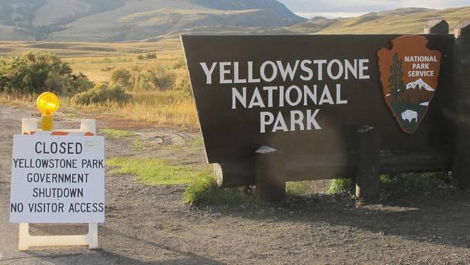 Yellowstone Shutdown Campgrounds National Park