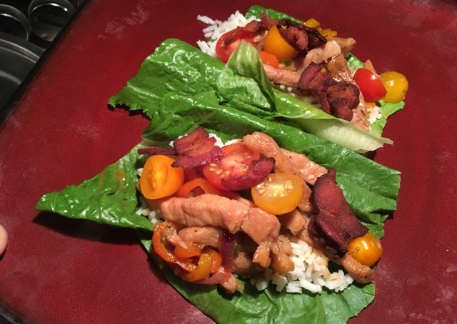 RVEpicure: Stir-Fried Pork Lettuce Wraps