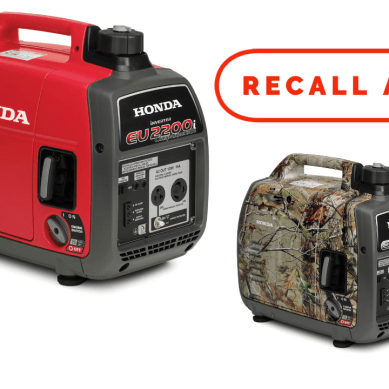 Honda Recalls 340,000 Portable Generators for Fire Hazard