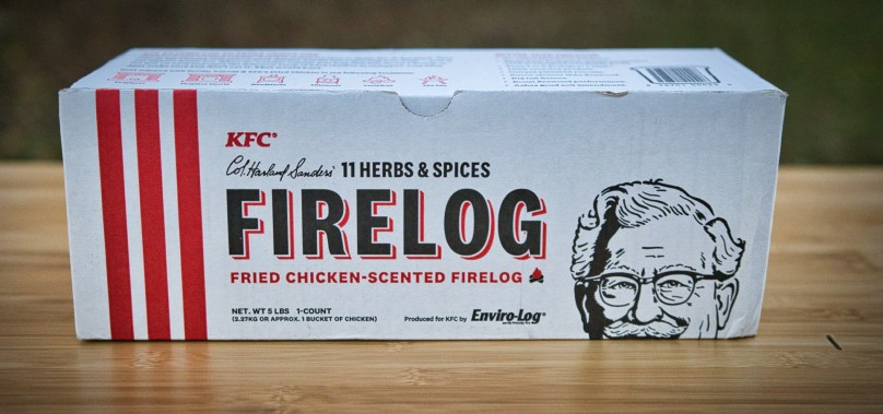 We Tried the KFC Firelog so You Don't Have To