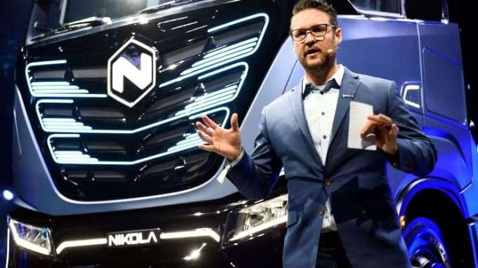 CEO and founder of U.S. Nikola, Trevor Milton is charged with fraud. Photo: Massimo Pinca | Reuters
