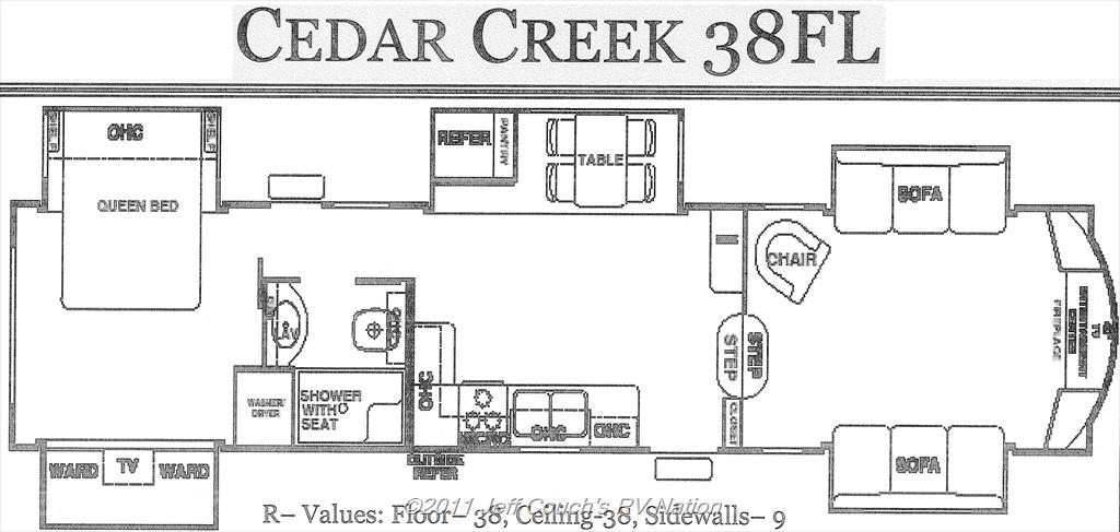 New Fifth Wheel 2012 Forest River Cedar Creek 38fl 5th Wheel 6