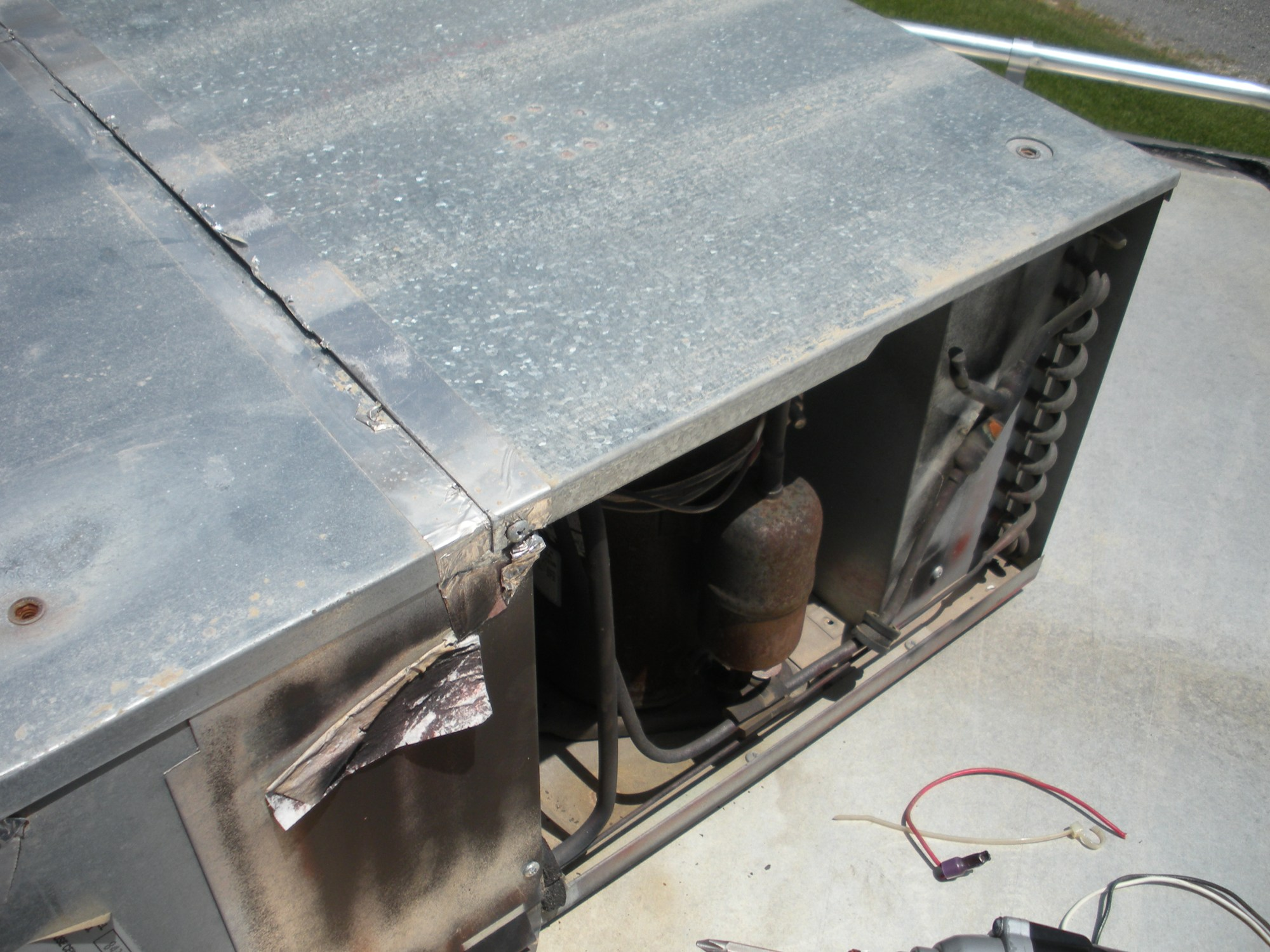 hight resolution of panel over compressor and electrical access cover will need to be removed