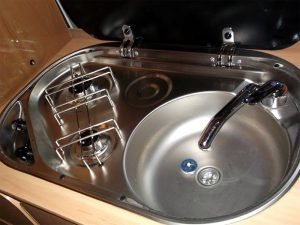 rv kitchen sinks diy cabinet drawers obsession when the burners are included in sink area do these