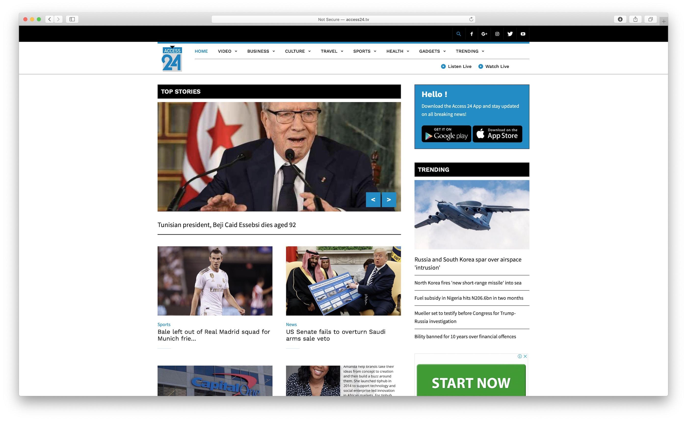 Access24 Website Screenshot