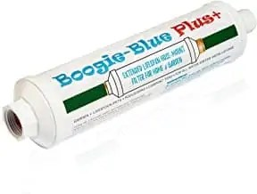 Boogie Blue Plus Garden Hose Water Filter for RV and Outdoor use - Removes Chlorine, Chloramines, VOCs, Pesticides/Herbicides Boogie Blue Plus High Capacity Filter - The Organic Gardener's Choice