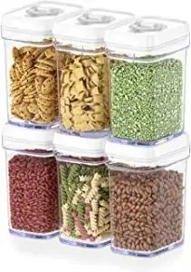KITCHEN Airtight Food Storage Containers with Lids Airtight – 6 Piece Set