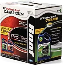 Camco Pro-Tec RV Rubber Roof Care System - Two Step Treatment Rids Dirt and Grime and Reduces Roof Chalking   Extends the Life of RV & Trailer Rubber Roofs - 2 Gallons
