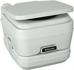 964 MSD Portable Toilet with Mounting Brackets - 2.5 Gallon