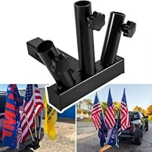E-cowlboy Hitch Mount RV Flagpole Holder for Jeep SUV RV Pickup Car Truck Camper Trailer Universal for Standard 2 inch Hitch Receivers