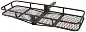 """Rage Powersports Elevate Outdoor CCB-F6020-DLX 60"""" Long Steel Basket Folding Hitch Cargo Carrier"""