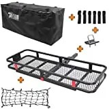 Hitch mount fold up cargo carrier