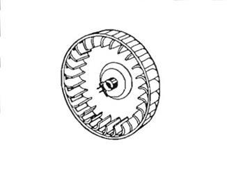 Suburban Furnace Combustion Wheel 350184 Blower Wheel