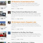 Delivered RV Rental listings