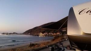 5th Wheel RV Set on beach campsite