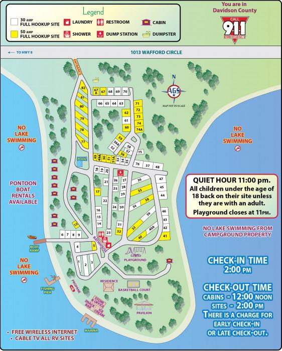 High Rock Lake Map : Marina, Campground, Lexington,, North, Carolina, Reviews