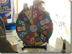 Passport America prize wheel