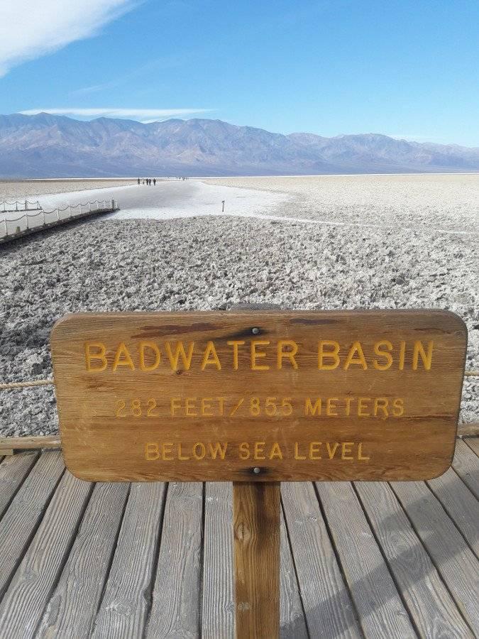 Badwater Basin Elevation Marker
