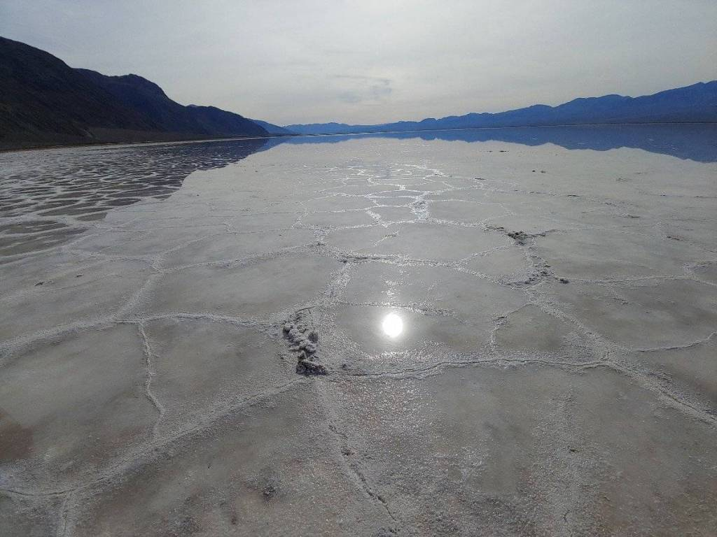 Reflective pool on Badwater Basin