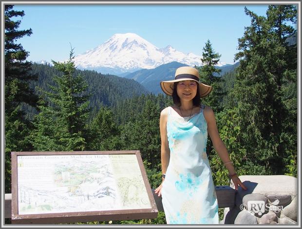 Weiwei & Mt. Rainier