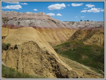 Yellow Rock Formations at Badlands. Badlands National Park. South Dakota. Photo Credit: Stephen Jones