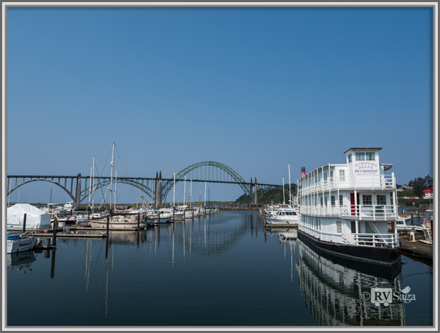 Yaquina Bay Bridge and Marina