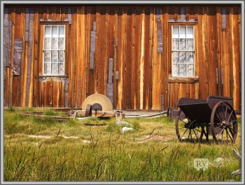Outside Miner's Union Hall. Bodie, California